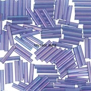 Стеклярус TOHO Bugle7 №328, 3мм, сиренево-розовый полупрозрачный, 5г