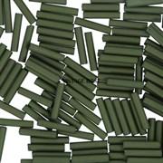 Стеклярус TOHO Bugle6 №617, 9mm , Хаки ирис матовый, 5 г