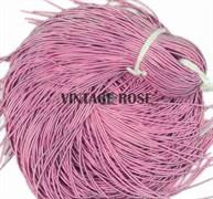 Канитель мягкая, 1 мм, розовая матовая