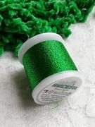 Нитки Madeira Metallic с люрексом зеленые 100 метров