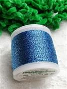 Нитки Madeira Metallic с люрексом голубые 100 метров
