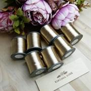 Нитки металлизированные, 1000 м, цвет: Розовое золото