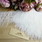 Перья страуса на ленте, белые (Белый)