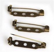 Булавка для броши с 3-мя отверстиями, 27 мм, бронза