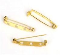 Булавка для броши с 3-мя отверстиями, 27 мм, золото