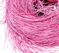 Канитель мягкая, 1 мм, ярко-розовая 805