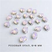 Стразы Премиум Капля в юв. кастах, 6*8, Розовый Опал, 2 шт