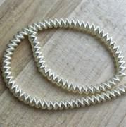 Канительный шнур, 4 мм, белое золото