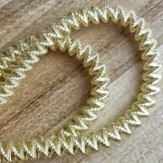 Канительный шнур, 4 мм, Светлое золото
