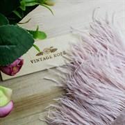 Перья страуса на ленте, пыльно-розовые