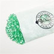 Пайетки 3мм плоские Св. Зеленые АВ #ОА114В/3мм Италия,  прозрачные АВ