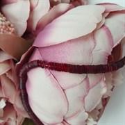 Пайетки 4мм плоские на нитке, Рубин Прозрачный, Ливан