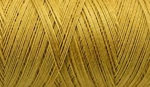 Нитки Cotton № 50/3, Aurora вощеные 200 метров Цвет 21002 ЗОЛОТО