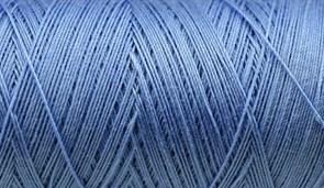 Нитки Cotton № 50/3, Aurora вощеные 200 метров Цвет 21117 ТЕМНО ГОЛУБОЙ