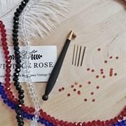 Люневильский крючок с 4-мя иглами бренда Vintage Rose Эбеновое дерево