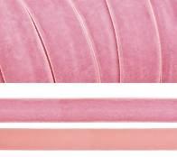 Лента бархатная, цвет № 75-розовый. Ширина 20мм  (1метр)