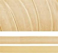 Лента бархатная, цвет № 04-слоновая кость.Ширина 10-20мм.(1метр)