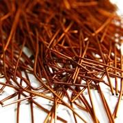 Канитель мягкая, 1 мм, оранжевая медь