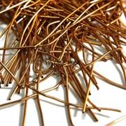Канитель мягкая, 1 мм, Темное золото