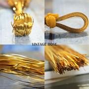 Бить золотая для вышивки
