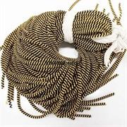 Канительный шнур, 4 мм, золото с черным