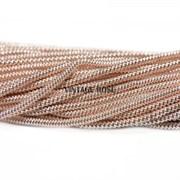 Витая канитель, 1,5 мм, Розовое золото