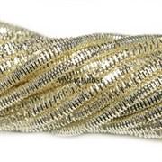 Граненный трунцал, 3 мм, Светлое Золото