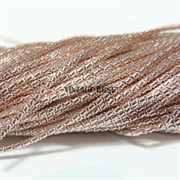 Витая канитель, 2 мм, Розовое золото