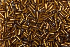 Бисер стеклярус АСТРА 5мм непрозрачный/цветной коричневый (53), 20г