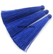 Вискозные кисточки для сережек 7 см, Синие