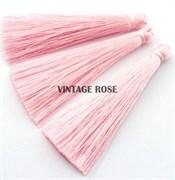 Вискозные кисточки для сережек 7 см, Розовые