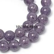 Бусины Кварц натуральный сахарный Фиолетовый, 10 мм 3шт/уп