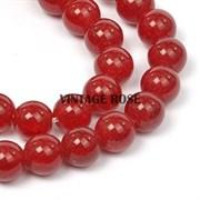 Бусины Кварц натуральный сахарный Красный 10 мм 3шт/уп
