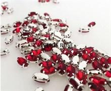 Стразы в цапах, 4*8 мм, рубиновый, 10 шт/уп