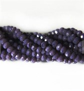 Граненые бусины, искристый фиолетовый, 3 мм, Чехия