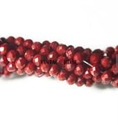 Граненые бусины, марсианский красный, 3 мм, Чехия