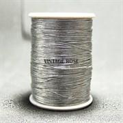 Металлизированная нить Zari , серебро, 125 м