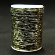 Металлизированная нить Zari , золото с черным